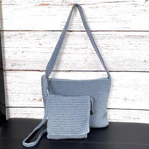 NEW!🤩 |•THE SAK•| SET OF 2 • Blue Crochet Bags